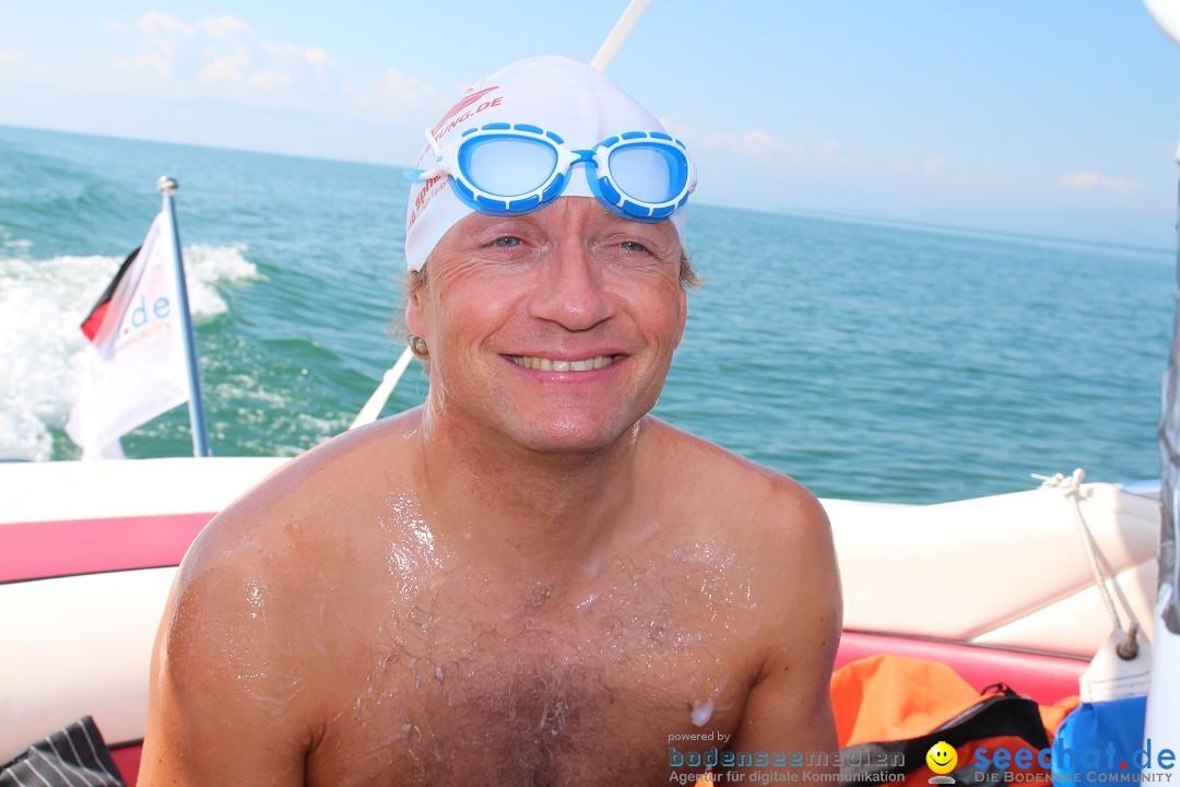 Wigald Boning bei der Bodenseequerung mit BODENSEEBOOT Begleitboot, Skipper, Fotos und Video